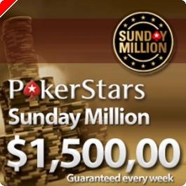 Hoje às 21:30 a PokerStars Oferece 5 Entradas no Sunday Million em Honra de...