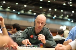 European Poker Tour Prague Day 1b, Jude Ainsworth Leads