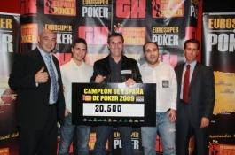 Manuel Cuberos, campeón de españa de poker -- Finaliza el CEP de Alicante