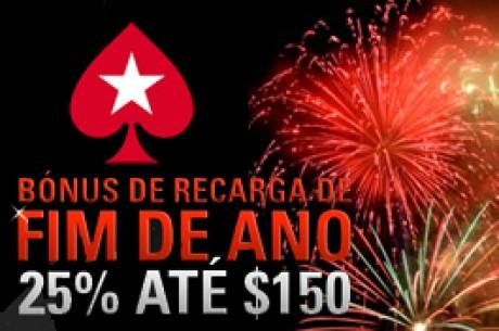 Bónus de Recarga do Ano Novo de 25% na PokerStars