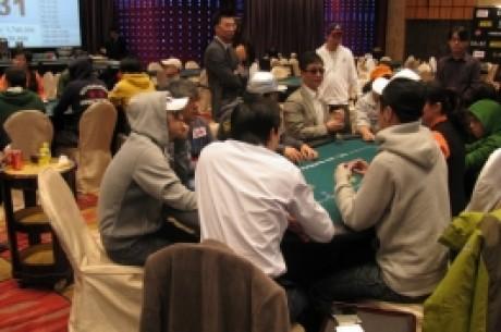 亚洲扑克王大赛第二天(Day 2)比赛进行到第四个小时时悲情人物产生