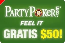 $50 Grátis na Party Poker Sem Depósito