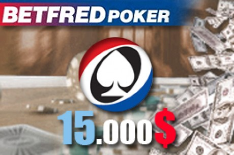 $15,000 em Freerolls na Betfred Poker