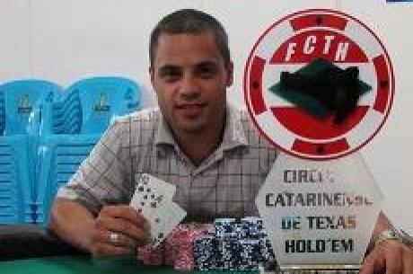 Thiago Napoleão é o Campeão da 1ª Etapa do Circuito Catarinense de Texas Hold'em