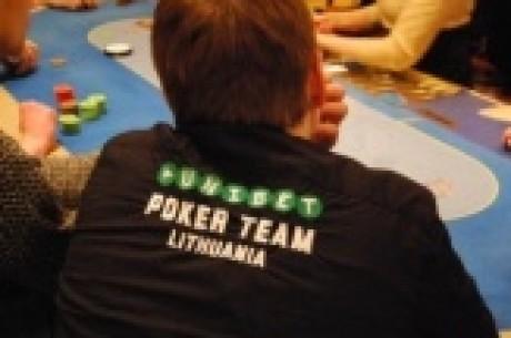 Unibet Pokerio Savaitgalis - 1B diena. Ankstyvi iškritimai ir lyderių dešimtukas