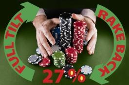 Вземете 27% рейкбек от Full Tilt Poker