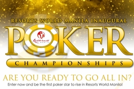 Resorts World Manila Set for its Inaugural Poker Tournament