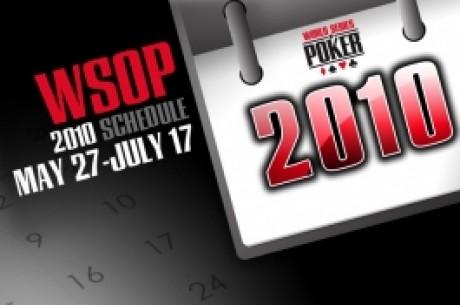 Der Turnierplan der World Series of Poker WSOP 2010