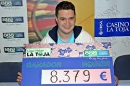 Liga 888.com Poker La Toja: Paulo Jorge gana la etapa de Abril