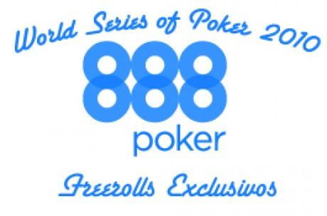 Freeroll Exclusivos 888.com levam-te às WSOP