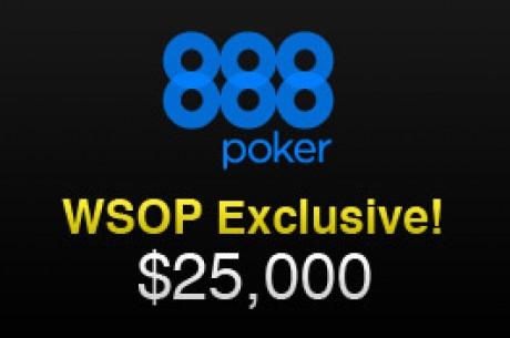 $25,000 em Freerolls Exclusivos WSOP na 888 - Qualificação a  Terminar