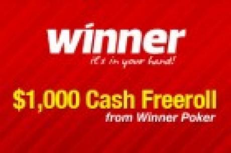 $1 000 кэш фриролл от Winner Poker