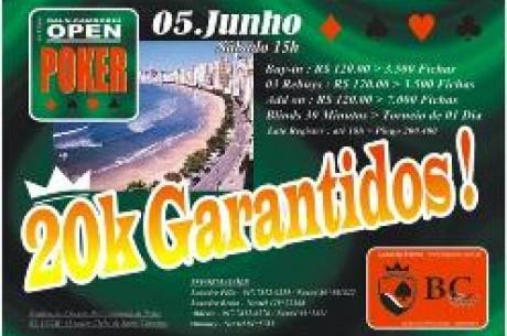II Balneário Camboriú Open de Poker Neste Sábado, 05 de Junho