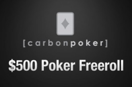 $500 Cash Freeroll Serie pågår hos Carbon Poker