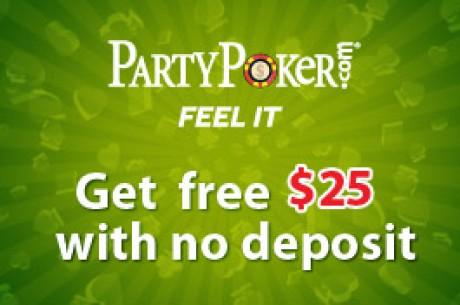 Få $25 gratis hos PartyPoker - Utan insättningskrav!