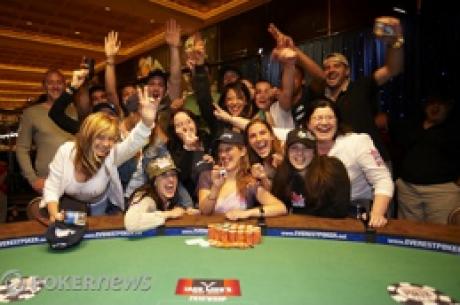 Día 17, 2010 World Series of Poker: Hellebuyck, la primera mujer francesa con brazalete, Boyd...