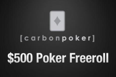 Kvalifisering i dag til PokerNews sin $500 freeroll hos Carbon Poker onsdag 23.juni