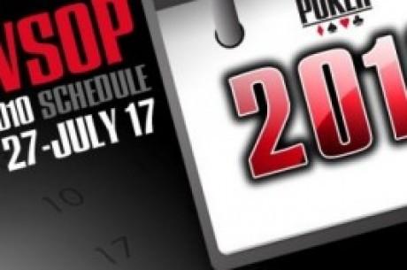 WSOP - Oppdatering og vinnere fra mandag 21.juni