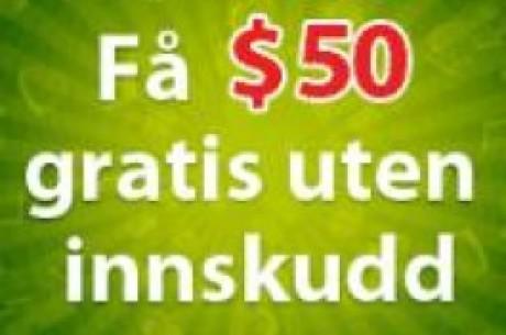 $50 gratis kampanje hos PartyPoker - Ingen innskudd!