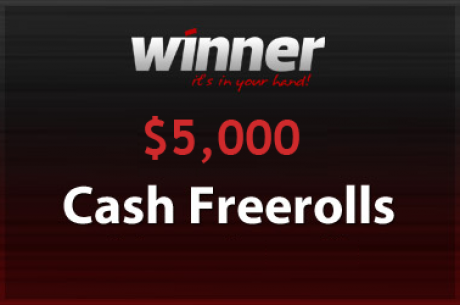 $5,000 PokerNews Cash Freeroll na Winner Poker