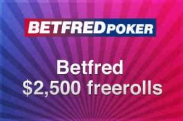 Betfredポーカーでの2,500ドルの現金Freeroll