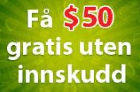 FREE $50 - ingen innskudd!