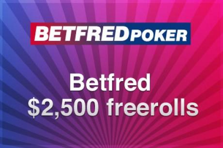 Betfred $2.500 freeroll turnering 22.juli