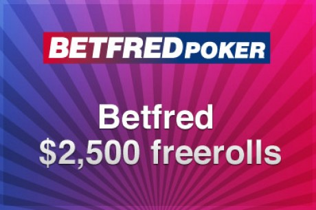 $2,500 Cash Freeroll at Betfred Poker