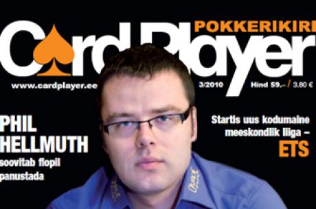 """Ajakirja """"Cardplayer"""" värske numbri esikaanel Janar Kiivramees"""