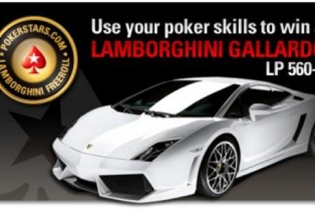 Laimėk Lamborghini Gallardo LP 560-4 + $1,000,000 grynųjų pinigų prizais tik PokerStars...