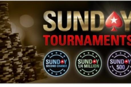 PokerStars sekmadienio turnyrų grafikas