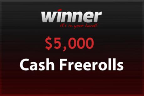 $5,000 Cash Freeroll στο Winner Poker