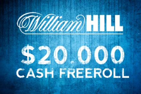 PokerNews $20,000 Algadienis William Hill kambaryje jau sekmadienį. Dar galite spėti...
