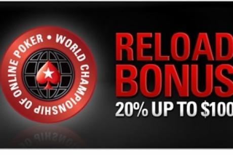 PokerStars pakub WCOOPi puhul reload-boonust