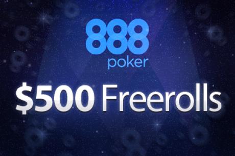 Den næste $500 PokerNews Deposit Freeroll hos 888 Poker Kommer Snart !