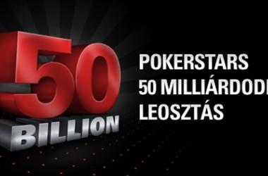 Pénzeső a PokerStars 50 milliárdodik leosztásánál