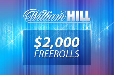 Hoy, nuevo freeroll de William Hill de 2.000$ - La calificación es muy fácil (Sólo 3...
