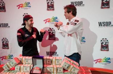 2010 WSOP: Jonathan Duhamel (188,950,000) срещу John Racener (30,750,000) в спор за...