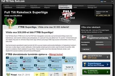 Kindlusta pääse FullTiltRakeback Superliiga finaalturniirile: $500 added iga mängija kohta!
