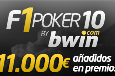"""¡Apúntate ya a la nueva liga por equipos (11.000$ en paquetes) """"F1 Poker10"""", en..."""