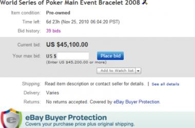Цената на WSOP златото поскъпва (на eBay)