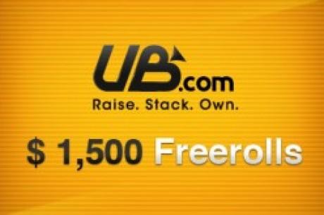 Skynda att kvala in till UB & Absolute Poker $1,500 Freerolls – Kräver endast insättning