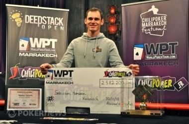 Кратко о главном: Sebastian Homann победитель WPT Маракеш...