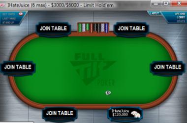 Скъпо: Full Tilt отвори специална $3,000/$6,000 маса