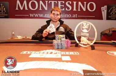 "Joris Springael gana el ""3 Lander Poker Tour"" en Viena"