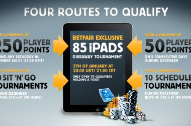 85 iPad Giveaway Tournament at betfair Poker