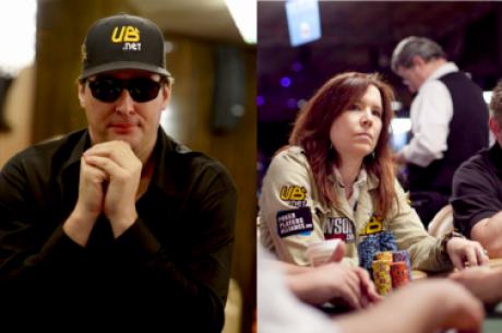 Phil Hellmuth i Annie Duke poza UB