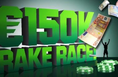 Рейк състезание за €150,000 в Унибет