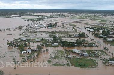 Crown Casino håller i välgörenhet för översvämningsdrabbade i Queensland