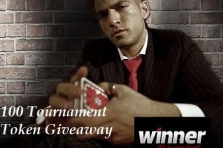 Išskirtinis Winner Poker nemokamas turnyras, kurio prizinis fondas - 100 turnyrinių žetonų